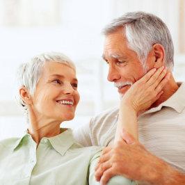 smiling senior couple